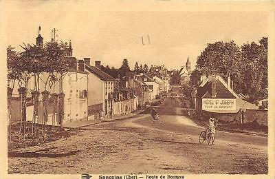 Cpa 18 Sancoins Route De Bourges