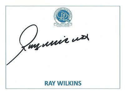 Ray Wilkins Signed Card Qpr