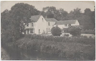 Real Photo Postcard Unknown Location Large River Side Country House Where ?