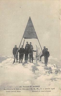 Cpa 39 Environs Morez L´u.a.m. Ascension De La Dole En Skis 1906