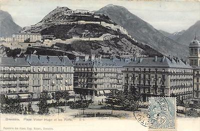 Cpa 38 Grenoble Place Victor Hugo Et Les Forts