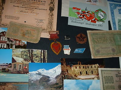 Original 35 Old Items As In Pictures Combined Postage (B2)Bonds,medals Etc.