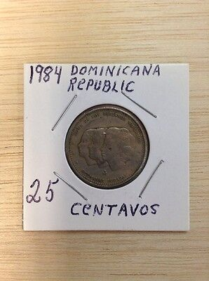 1984 Dominican Republic 25 Centavos (Mirabal Sisters) LOT#M086