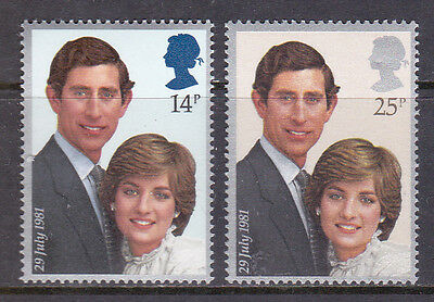 Great Britain 1981 Royal Wedding Pair UM Cat £2.25
