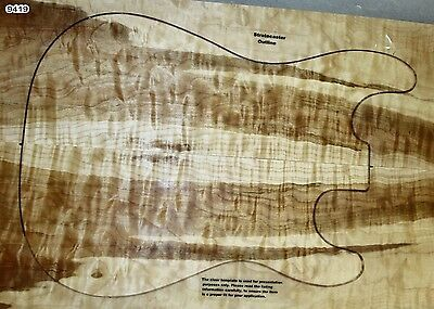 """Quilted Maple 0.23"""" Guitar set (9419) - Great quilt figure"""