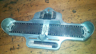 *Vintage* BRANNOCK DEVICE Universal SHOE Store SIZER Cast METAL Foot SIZES