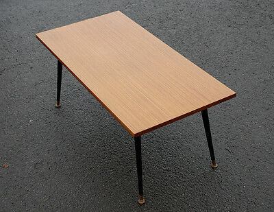 Lovely Vintage Teak Retro 60's or 70's Coffee Table with Dansette Legs
