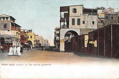 Cpa Egypte Port Said Street In The Native Quarter