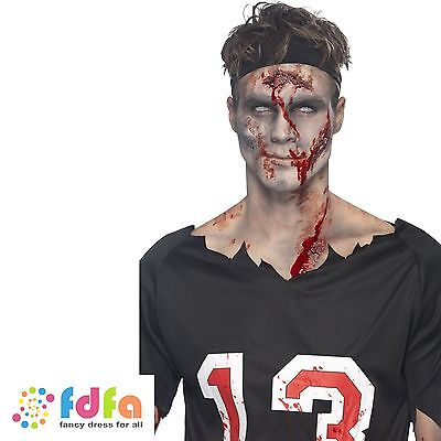 MAKE YOUR OWN SCAR MAKE UP KIT BLOOD LATEX face paints fancy dress accessory