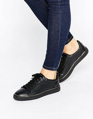 BRAND NEW New Look Black Piped Sole Trainer Size 7