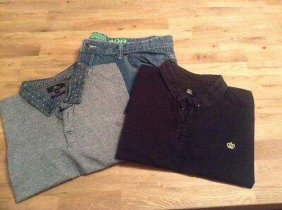 Next polo shirts and jeans XXL