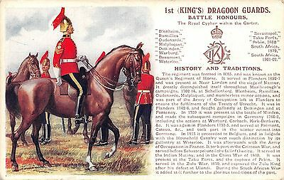 POSTCARD  MILITARY  HISTORY & TRADITIONS  Ist   DRAGOON  GUARDS