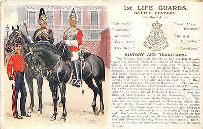 POSTCARD  MILITARY  HISTORY & TRADITIONS  Ist  LIFE    GUARDS