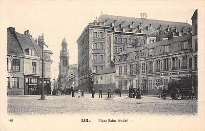 Cpa 59 Lille Place Saint Andre