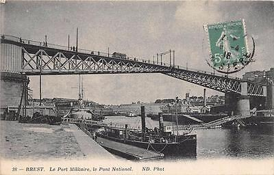 Cpa 29 Brest Le Port Militaire Pont National
