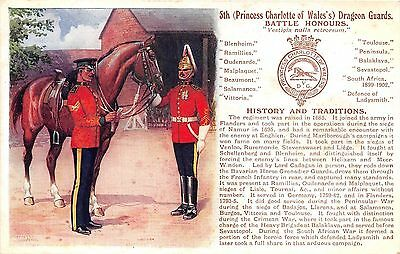POSTCARD  MILITARY  HISTORY & TRADITIONS  5th  DRAGOON   GUARDS