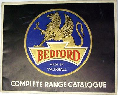 BEDFORD Range Original Commercial Sales Brochure Dec 1936 #B229b/12/36
