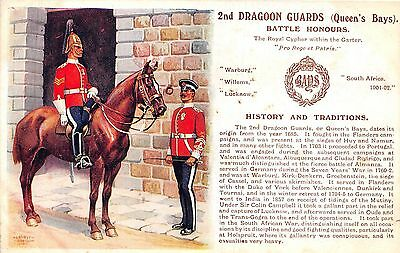 POSTCARD  MILITARY  HISTORY & TRADITIONS  2nd  DRAGOON  GUARDS