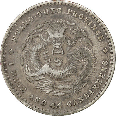 [#42326] CHINA, 20 Cents, 1890, KM #201, EF(40-45), Silver, 5.36