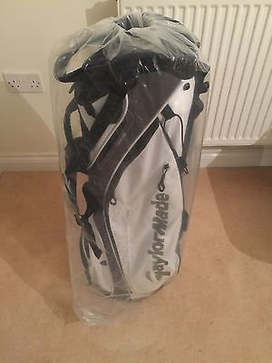 *NEW* Taylormade Tour Lite Stand Bag WHITE/BLACK/GREY 4 Way Divider Carry Bag