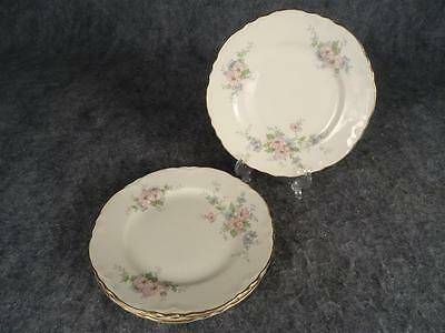 "4 X Vintage Homer Laughlin Georgian Cashmere Pattern 6.25"" Dessert Plates"