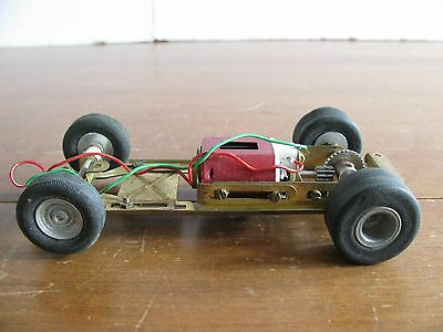 Vintage 1960s 1/24 Scale Monogram Competition Brass Chassis w/ 36D Motor VG