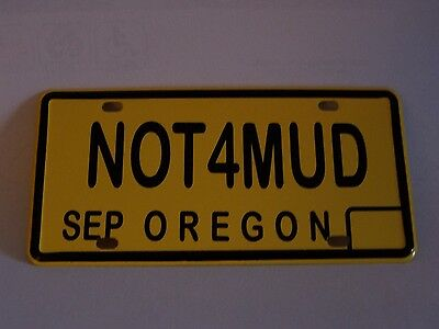 Oregon State Mini License Plate Mint Condition 1.75' x 3.5'   - bicycle