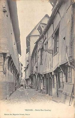CPA 10 TROYES PETITE RUE GAMBEY (dos non divisé)