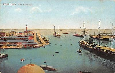 Cpa Egypte Port Said The Harbour