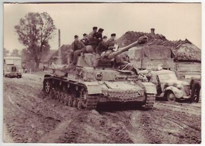 German Wwii Photo From Russian Archive: Panzer Iv Tank On The Move