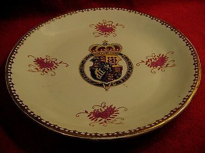 "Antique Armorial Plates ""honi Soit Qui Mal Y Pence"""