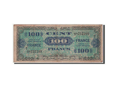 [#42624] France, 100 Francs, 1945 Verso France, 1945, KM #118a, VF(30-35), 7