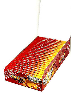 Juicy Jay's Mello Mango flavored rolling papers 1 1/4 Size 24 Packs - BOX - 32ea