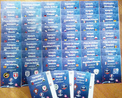 EURO-2016 ALL Match programmes FAN edition + official linesup