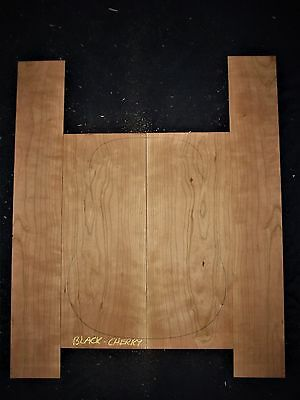 Guitar Luthier Tonewood FIGURED AMERICAN CHERRY Acoustic backs sides SET