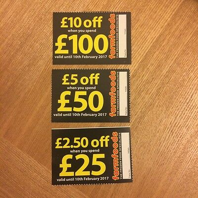 £17.50 worth of Farmfoods Vouchers