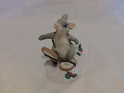 Charming Tails BINKEY BUNNY SNOWSHOE Christmas Dean Griff (S)