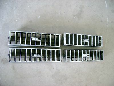 1974 75 1976 1977 1978 Cadillac Eldorado AC Dash Vents Chrome