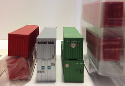 Walthers Hi-Cube & DeLuxe Dual Panel Logo 40 foot Container lot 4 pair