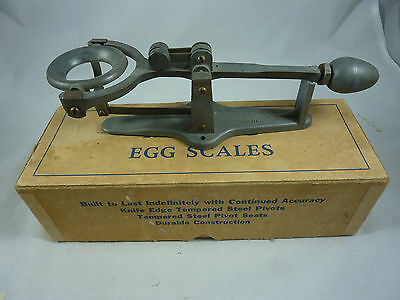 Magic Egg Scale w/ Box & Flip Over Weight National Poultry Equip Co Renton Wash