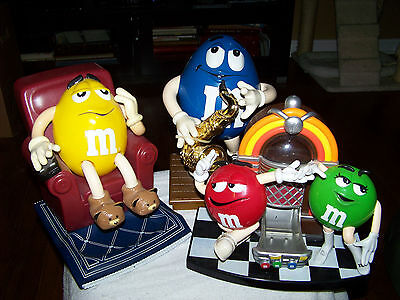 M&M's Jazz Sax Player, Jukebox and Lazy Boy Recliner Candy Dispensers
