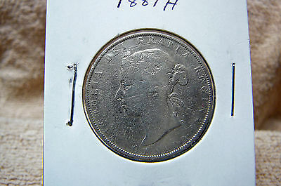 1881H Fifty Cents Queen Victoria