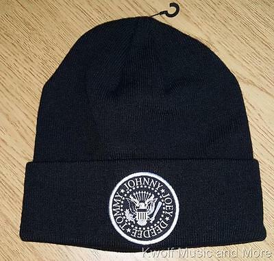 """THE RAMONES Beanie/Knit Hat/Cap  """"Seal""""  Official/Licensed OSFM   NEW"""