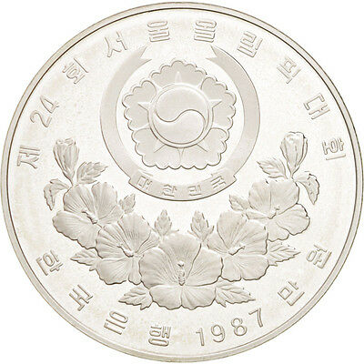 [#46318] KOREA-SOUTH, 10000 Won, 1987, KM #63, MS(65-70), Silver, 40, 33.61