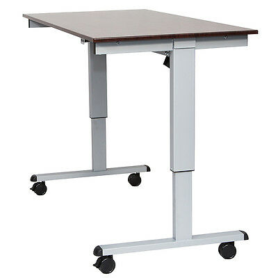 Luxor STANDE-60-AG/DW 60-Inch Gray/Walnut Adjustable Electric Standing Desk