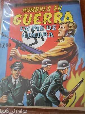 1981 HOMBRES EN GUERRA comic MEN IN WAR WORLD WAR II NAZI nazism WWII battle