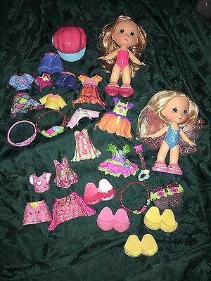 Fisher Price Snap N Style Dolls Lot Clothes Accessories Fairy Htf Kohls Target