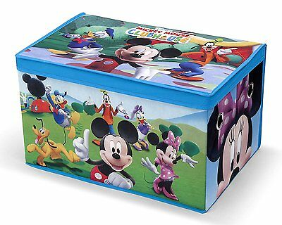 Delta Mickey Mouse Clubhouse Collapsible Storage Bin Toy Box Trunk Organizer NEW