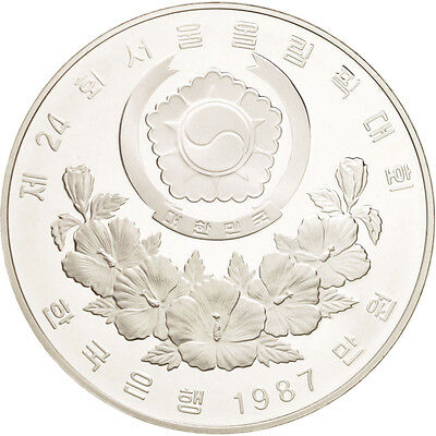 [#46316] KOREA-SOUTH, 10000 Won, 1987, KM #62, MS(65-70), Silver, 40, 33.61