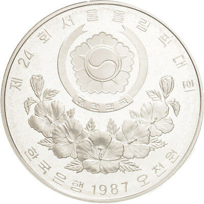 [#46328] KOREA-SOUTH, 5000 Won, 1987, KM #66, MS(65-70), Silver, 32, 16.80